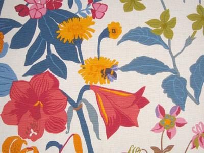 ファブリックパネル 花々