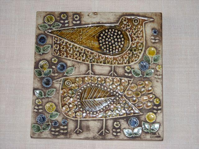 リサ ラーソン 陶板 鳥